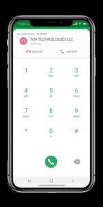 Zultys Mobile Screenshot Incoming Call